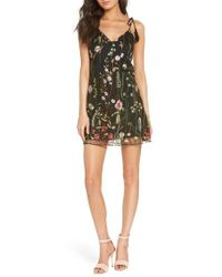 Ali & Jay - Treat Yourself Embroidered Minidress - Lyst