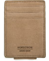 Nordstrom - Upton Rfid Leather Money Clip Card Case - Lyst