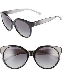 cbbfc6546a Tory Burch Modern Stacked Sunglasses - Gold Brown smoke in Metallic ...