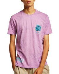 TOPMAN - Sundays Marbled T-shirt - Lyst