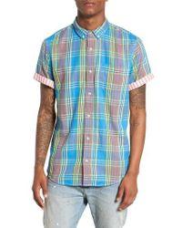 The Rail - Short Sleeve Plaid Duofold Shirt - Lyst