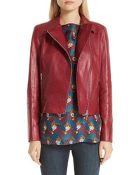 Lafayette 148 New York - Marykate Leather Moto Jacket - Lyst