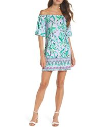 Lilly Pulitzer - Lilly Pulitzer Fawcett Off The Shoulder Shift Dress - Lyst