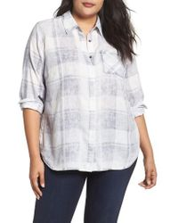 Two By Vince Camuto - Quaint Plaid Button Down Shirt - Lyst