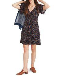 Madewell - Garden Party Cross Front Minidress - Lyst