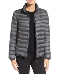Tumi | 'Pax On The Go' Packable Quilted Jacket, Grey | Lyst