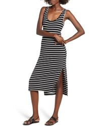 Rip Curl - Essentials Stripe Midi Dress - Lyst