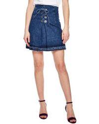 Sandro | Blue Vintage Denim Mini Skirt | Lyst