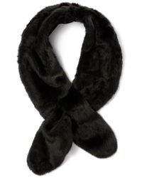 Badgley Mischka - Faux Fur Pull Through Scarf - Lyst