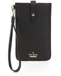 Kate Spade - Leather Smartphone Wristlet - Lyst