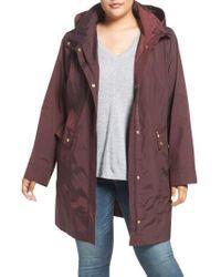 Cole Haan - Cole Haan Water Resistant Rain Jacket - Lyst