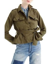 J.Crew | J.crew Cropped Fatigue Jacket | Lyst