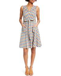 ModCloth - Plaid Fit & Flare Pocket Cotton Dress - Lyst