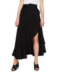 1.STATE - Ruffle Wrap Maxi Skirt - Lyst