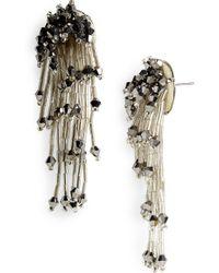 Panacea - Crystal Drop Earrings - Lyst