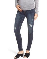 1822 Denim - Destructed Maternity Skinny Jeans - Lyst