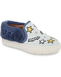UGG - Ugg Patch It Genuine Shearling Trim Slip-on Sneaker - Lyst