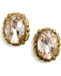 Sorrelli - Oval Crystal Stud Earrings - Lyst