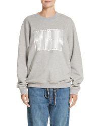 Proenza Schouler - Pswl Graphic Jersey Oversize Sweatshirt - Lyst