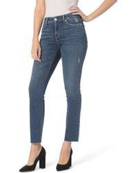 NYDJ - Sheri Raw Hem Stretch Slim Ankle Jeans - Lyst