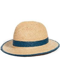 Treasure & Bond - Contrast Trim Straw Panama Hat - - Lyst