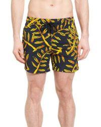 Vilebrequin - Superflex Gold Palms Print Swim Trunks - Lyst