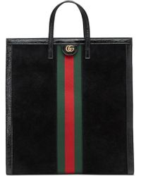 Gucci - Ophidia House Web Suede Tote - Lyst