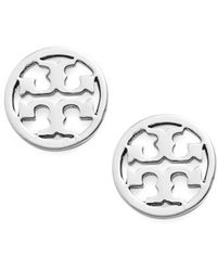Tory Burch | Circle Logo Stud Earrings | Lyst