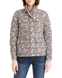 7b30811f59b J.Crew - Quilted Downtown Field Jacket In Liberty Garden Print - Lyst