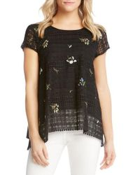 Karen Kane - Embroidered Lace Blouse - Lyst
