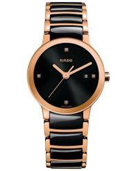 Rado - Centrix Diamond Ceramic Bracelet Watch - Lyst
