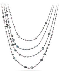 David Yurman - Oceanica Pearl And Bead Link Necklace With Grey Pearls And Hematine - Lyst