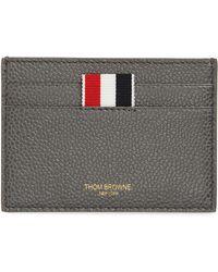 Thom Browne - Stripe Leather Card Holder - - Lyst