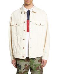 TOPMAN - Embroidered Denim Jacket - Lyst