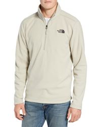 The North Face - Texture Cap Rock Quarter Zip Fleece Jacket - Lyst