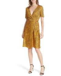 Diane von Furstenberg - Marigold Silk Wrap Dress - Lyst