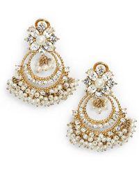 Marchesa - Crystal Chandelier Drop Earrings - Lyst