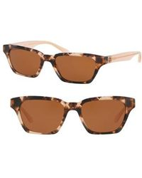 Tory Burch | Classic Stacked 51mm Sunglasses | Lyst