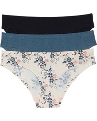 Honeydew Intimates - Skinz 3-pack Hipster Panties, Blue - Lyst