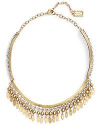 Karine Sultan - Fringe Collar Necklace - Lyst