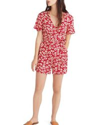 Madewell - Daisy Wrap Front Romper - Lyst