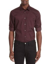 John Varvatos - Adjustable Button Tab Sleeve Sport Shirt - Lyst