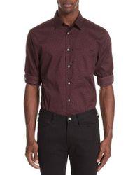 John Varvatos - Adjustable Button Tab Sleeve Sport Shirt - Lyst
