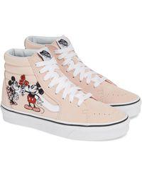Vans - Disney Mickey & Minnie Sk8-hi Top Trainers - Lyst