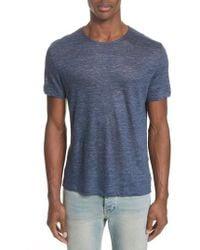 John Varvatos - Linen T-shirt - Lyst