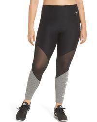 Nike - Power Mesh Training Leggings - Lyst