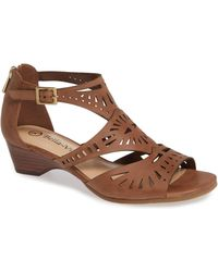 19956ee1bc1 Lyst - Freebird by Steven Penny Strappy Sandal in Brown