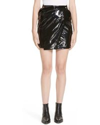 71a263a320 Roseanna - Town Faux Patent Leather Wrap Miniskirt - Lyst
