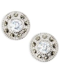 Judith Jack - Pave Stud Earrings - Lyst