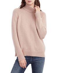 Velvet By Graham & Spencer - Textured Turtleneck Sweater - Lyst